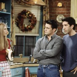 Rachel, Ross and Joey on 'Friends'