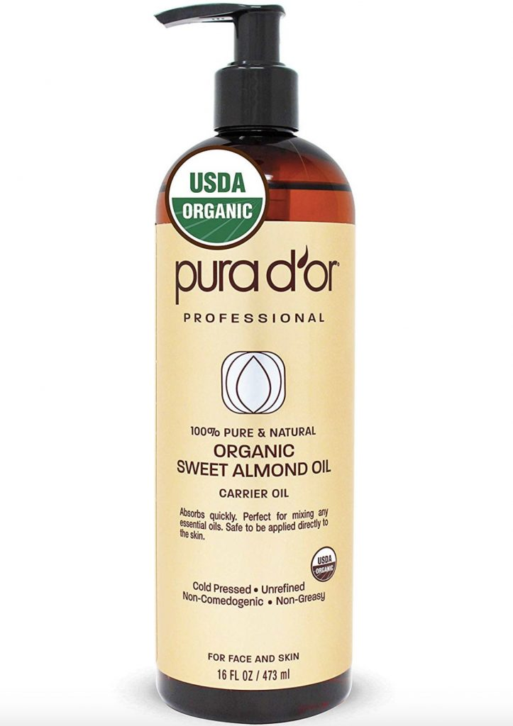 Pura D'or Organic Sweet Almond Oil for Skin and Face