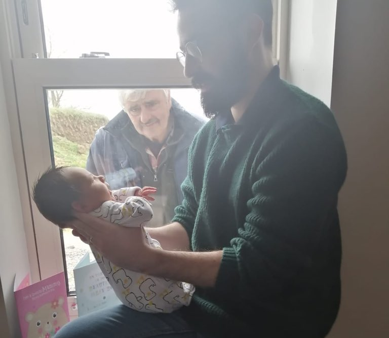 Man 'meets' Grandson For The First Time While Social
