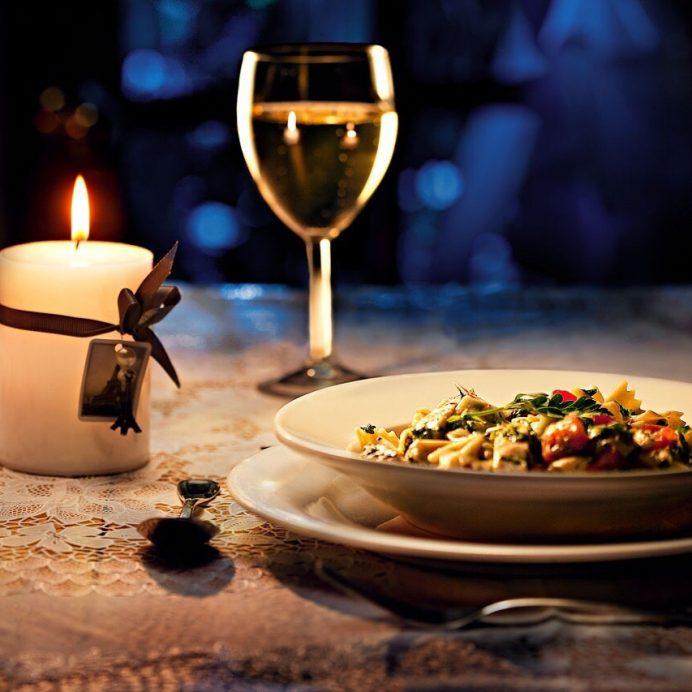 Pasta and wine (Getty Creative)