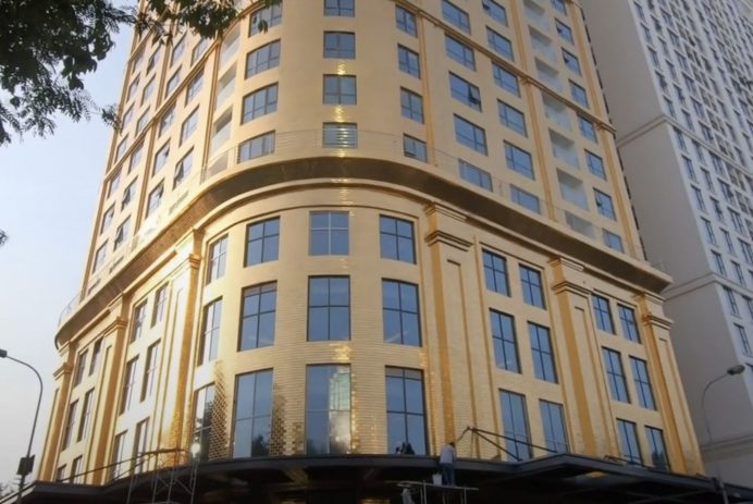 gold coated hotel