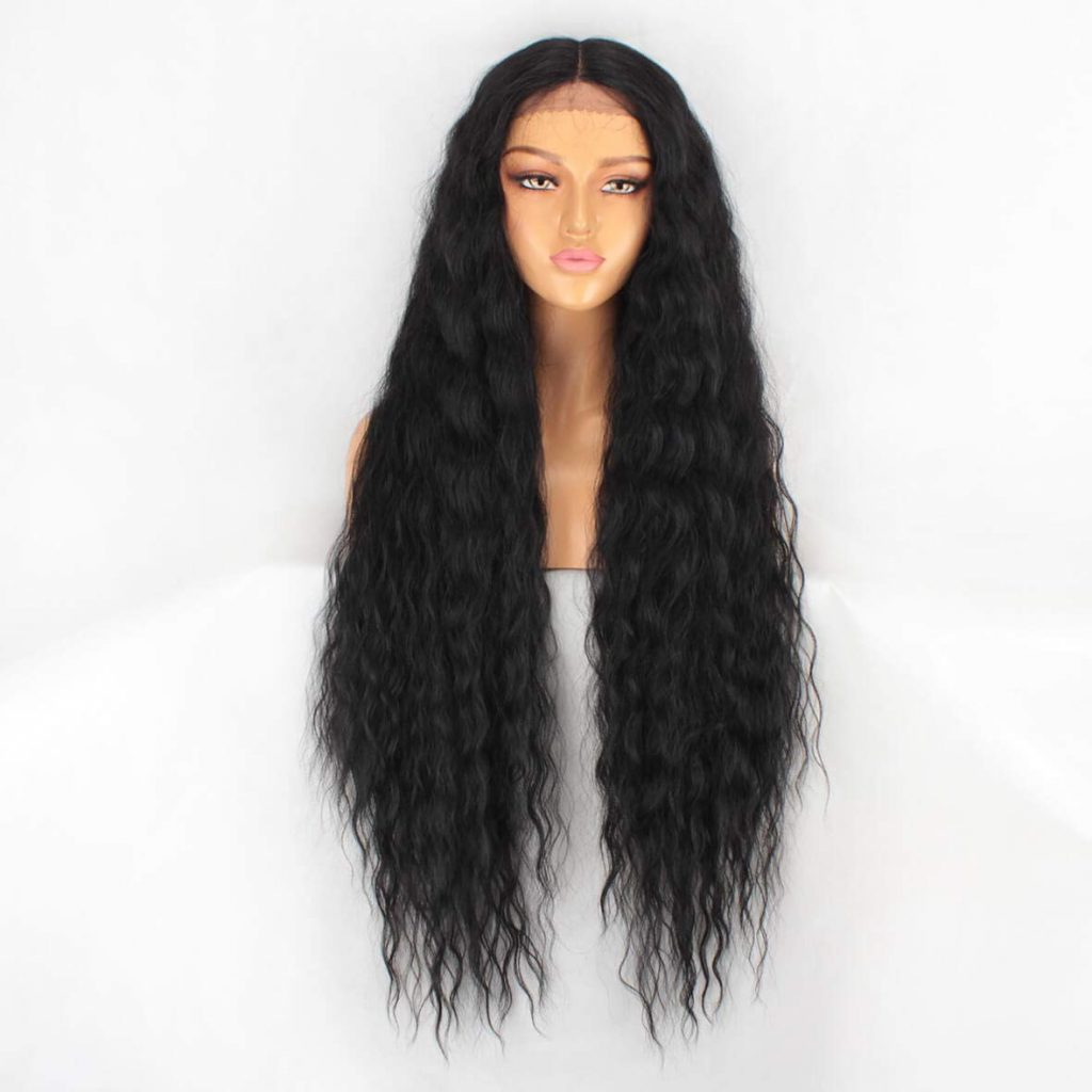 Synthetic lace front wig