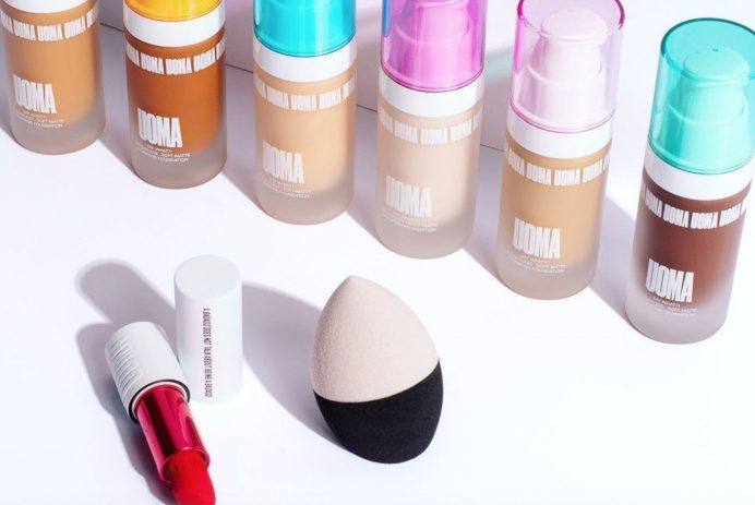 A lineup of Uoma Beauty foundation