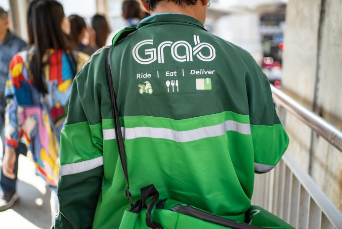 GrabFood delivery man